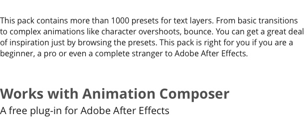 Text Preset Pack for Animation Composer